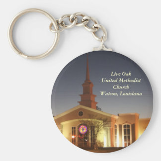 Live Oak United Methodist Church Basic Round Button Keychain