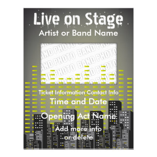 Live on Stage City  Music Flyer