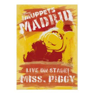 Live on Stage! Miss Piggy Poster