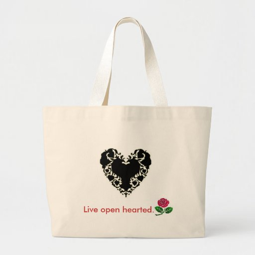 Live open hearted Bag