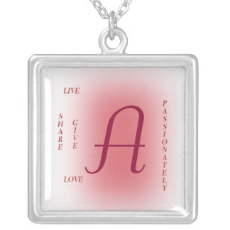 Live Passionately Silver Plated Necklace