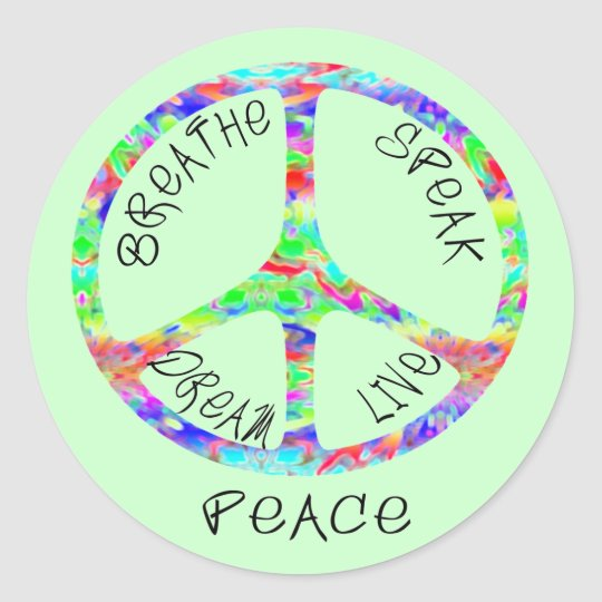 Live Peace Stickers