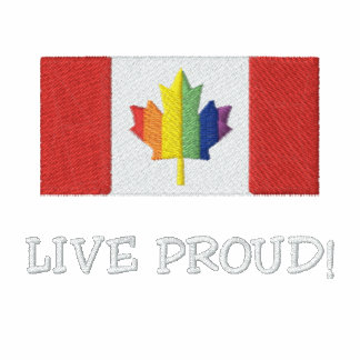 Live Proud! Canadian Flag Polo Shirt