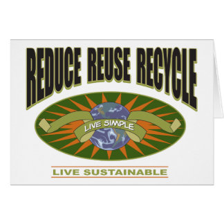 Live Simple Live Sustainable Card