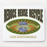Live Simple Live Sustainable Mousepads