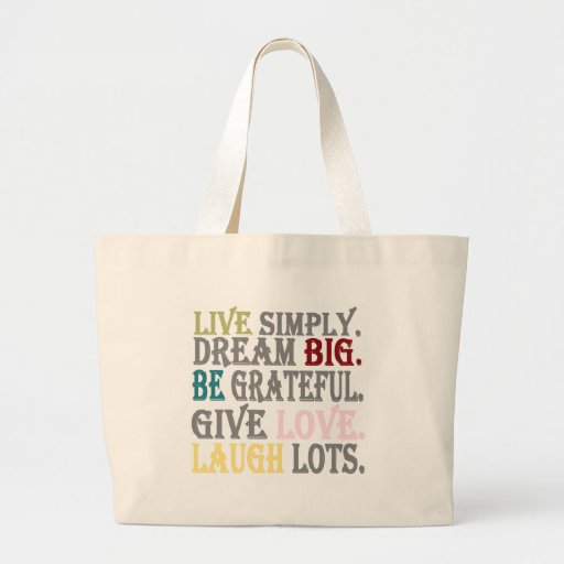 Live Simply Tote Bags