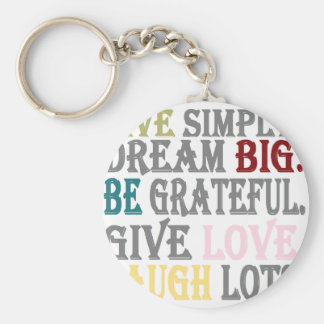Live Simply Key Chains
