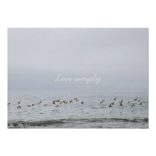 Live simply poster