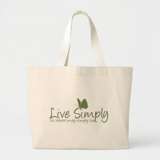 Live Simply Recycle Large Tote Bag
