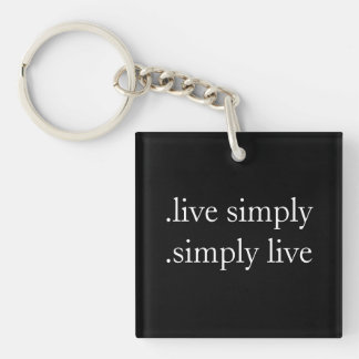 .live simply .simply live keychain square acrylic keychain