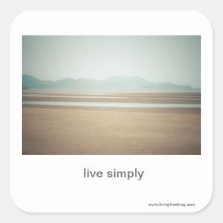 Live Simply Square Sticker