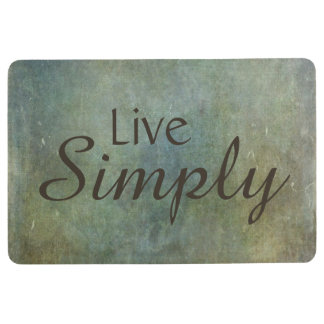Live Simply Throw Rug Matte Green Brown