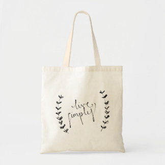"""""""live simply"""" tote"""