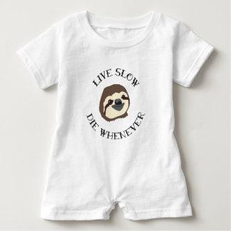 LIVE SLOW DIE WHENEVER BABY ROMPER