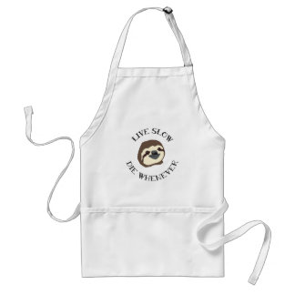 LIVE SLOW DIE WHENEVER STANDARD APRON