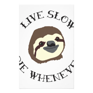 LIVE SLOW DIE WHENEVER STATIONERY