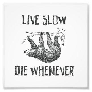 Live Slow Photo Print