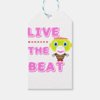 Live The Beat-Cute Monkey-Morocko Gift Tags