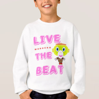Live The Beat-Cute Monkey-Morocko Sweatshirt