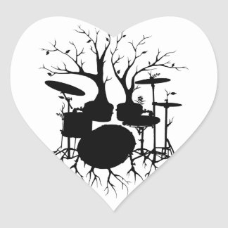 Live the Beat to the Tempo of Creation ~ drum Heart Sticker