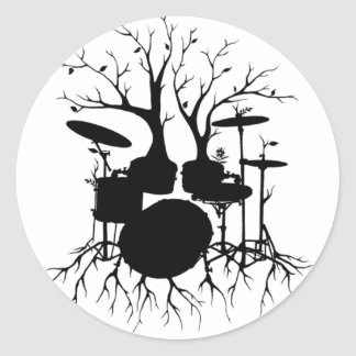 Live the Beat to the Tempo of Creation ~ drum set Round Sticker