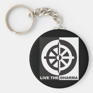 Live the Dharma Basic Round Button Keychain