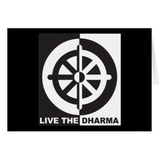 Live the Dharma Greeting Card