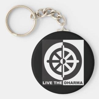 Live the Dharma Basic Round Button Keychain