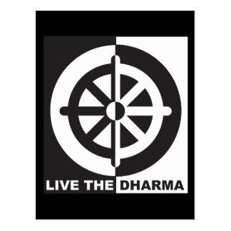Live the Dharma Postcard