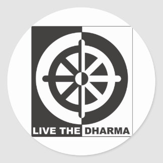 Live the Dharma Round Sticker