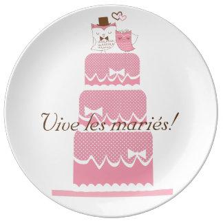 Live the grooms! porcelain plates