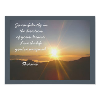 Live the Life -- Thoreau quote - art print