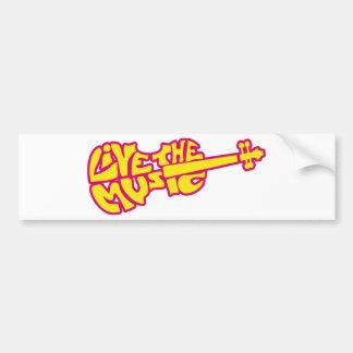 Live the Music Bumper Sticker