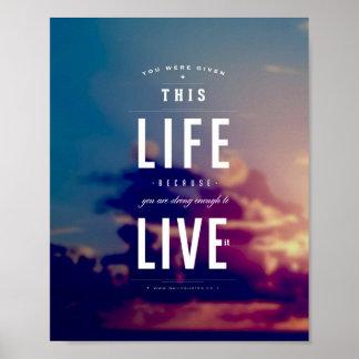 "Live This Life - 8""x10"" Art Print"