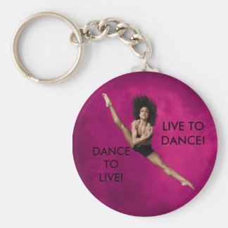 LIVE TO DANCE BASIC ROUND BUTTON KEYCHAIN