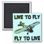 LIVE TO FLY, FLY TO LIVE FRIDGE MAGNETS