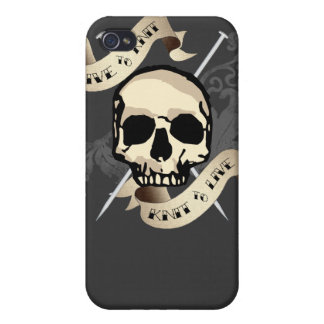 Live to Knit Hard Shell Case for iPhone 4