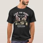 Live To Ride F6 Valkyrie motorcycle design - dark T-Shirt