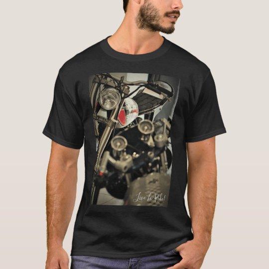 Live To Ride! Motorbike Motorcycle Biker T-Shirt