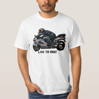Live To Ride Motorbiker T-Shirt