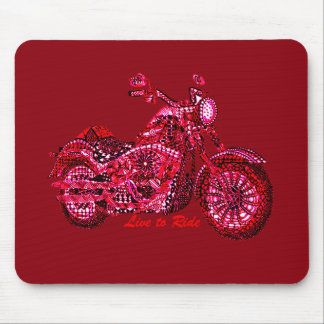 Live to Ride Mouse Pad
