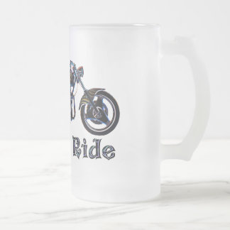Live to Ride Neon Motorcycle Beer Mug