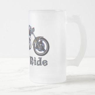 Live to Ride Neon Motorcycle Beer Mug