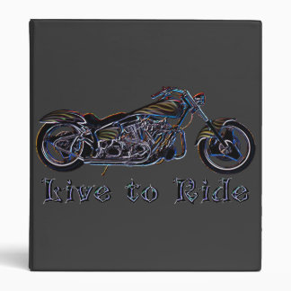 Live to Ride Neon Motorcycle Binder