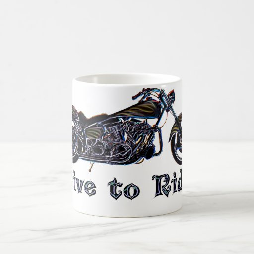 Live to Ride Neon Motorcycle Mug