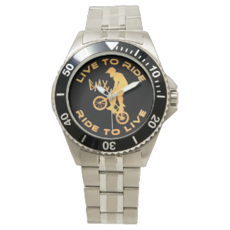 Live To Ride Ride To Live BMX Watches