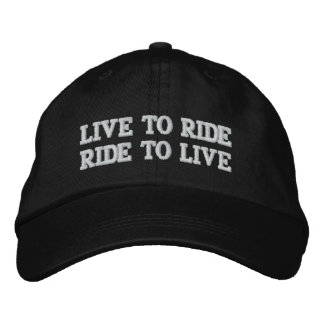 LIVE TO RIDE RIDE TO LIVE EMBROIDERED HAT