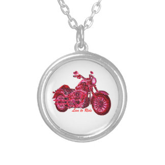Live to Ride Silver Plated Necklace