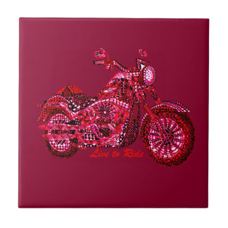 Live to Ride Tile