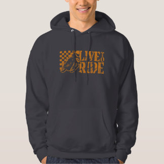 Live to Ride (v3 vintage orange) Hoodie